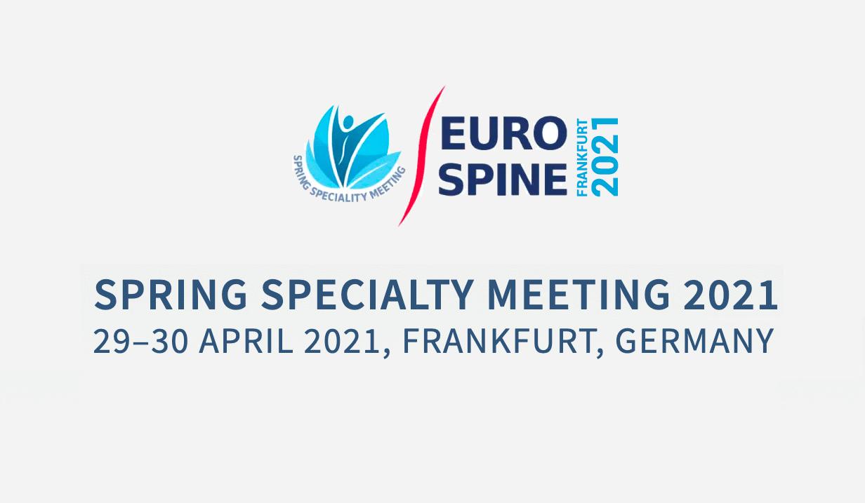 Eurospine 2021 Frankfurt